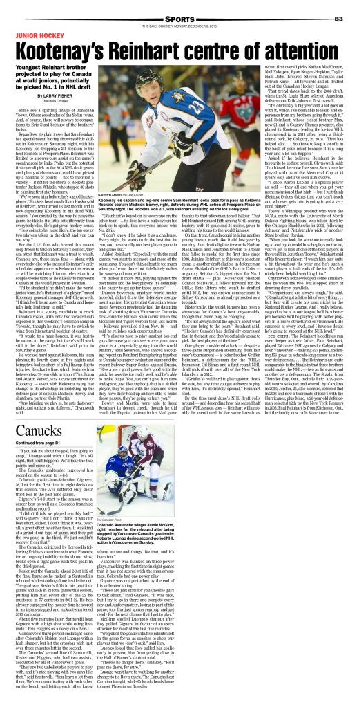 Reinhart Feature 12-09-13