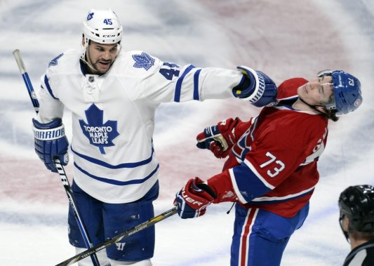 Fraser, who stands 6-foot-4 and weighs 220 pounds, take a jab at the 5-foot-9, 180-pound (soaking wet) Brendan Gallagher during their Original-Six matchup between Toronto and Montreal earlier this season. Fraser's truculence, pugnacity and belligerence, among other traits, could boost Edmonton's overall compete level and make the Battle of Alberta more entertaining with his former boss Brian Burke now the figurehead in Calgary.