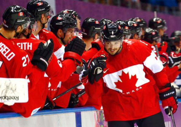 Mark Blinch/REUTERS Canada's Drew Doughty celebrates one of his two goals against Finland during the first period of their preliminary-round game at the 2014 Winter Olympics in Sochi, Russia. Doughty scored again in overtime — his fourth goal in three tournament games — as Canada won 2-1.