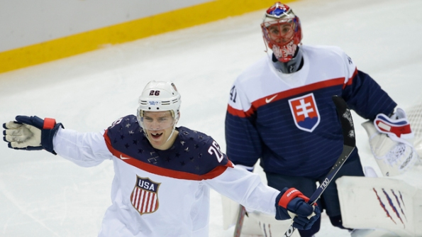 Matt Slocum/The Associated Press Team USA forward Paul Stastny celebrates his goal as Slovakia goaltender Jaroslav Halak looks on during the second period of their round-robin game at the 2014 Olympics in Sochi, Russia, on Thursday. The Americans opened with a 7-1 rout in the most impressive debut among the projected medal contenders. As reigning Olympic silver medallists, Team USA is hoping to top the podium this time around, and they have some people believing in their potential.