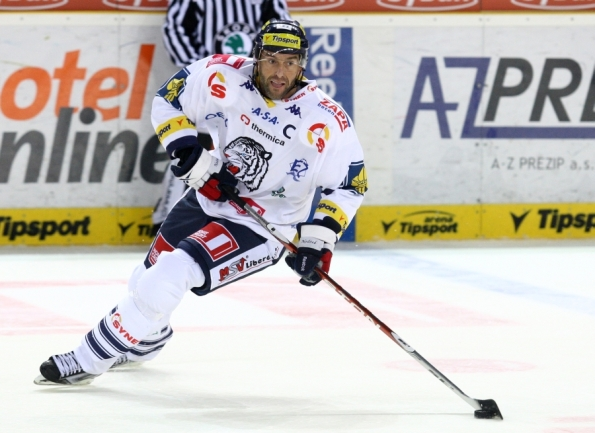 """<a href=""""www.hcbilitygri.cz"""">www.hcbilitygri.cz</a> Another ageless wonder, 42-year-old Petr Nedved resurfaced in North American headlines this winter when it was announced he would be representing the Czech Republic at the Sochi Olympics despite being seven seasons removed from his NHL finale. Turns out, Nedved never retired and has remained an offensive threat over the years — eclipsing a point-per-game pace in each of the last four seasons for Liberec Bili Tygri HC of the Czech Extraliga. That includes 19 goals and 50 points in 49 games during the 2013-14 campaign, to go along with 1 assist in 5 games at the Olympics. (Update: Nedved decided to hang them up after a very productive final season.)"""
